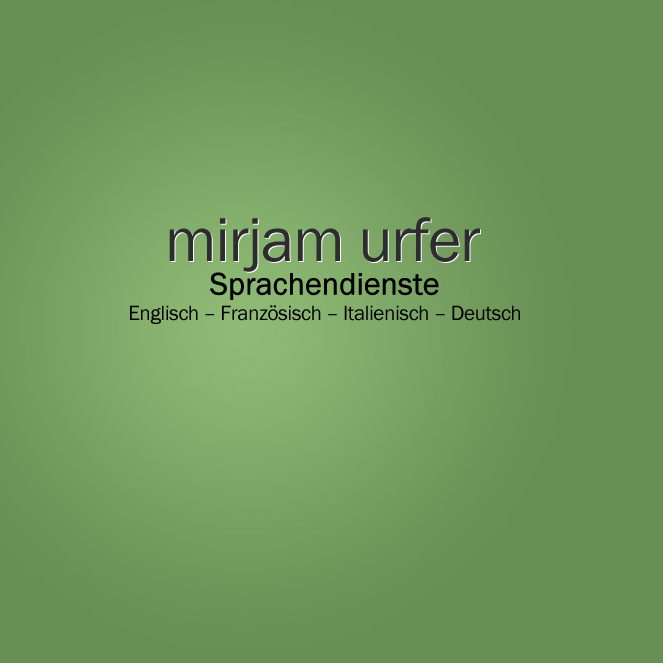 Mirjam Urfer, Mirjam Urfer Language Services